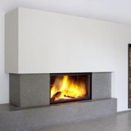 caminetto a legna interno casa Stuv monofacciale 21-125 in vendita a Rimini