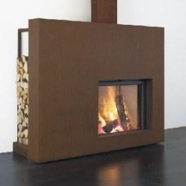 caminetto a legna interno casa Stuv monofacciale 21-95 in vendita a Rimini