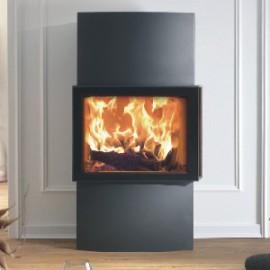 Stufa a legna interno casa Lounge Xtra Austroflamm in vendita a Rimini